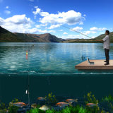 Sistema subaquático sem fio da câmera da pesca