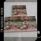 Cartão de jogo animal personalizado do tigre da alta qualidade