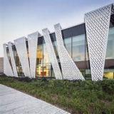 Panneaux perforés d'aluminium fait sur commande pour le bâtiment décoratif