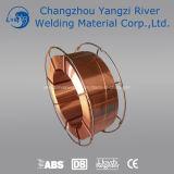 Fournisseur enduit de cuivre de fil de la soudure MIG DIN Sg2