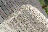 Sofà esterno dell'angolo della mobilia del rattan di vimini