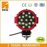 luz redonda luz roja/negra de Epistar del trabajo de 7inch 51W LED de 12V 24V LED del coche