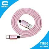 Novo tipo transferência de dados do USB de C e cabo cobrando