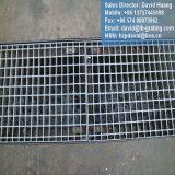 Couverture en acier galvanisée de grille de fossé