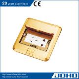Typen Fußboden-Kontaktbuchse wasserdichtes &#160 öffnen; Messingfußboden-Netzdose