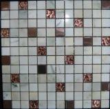Кристалл, нержавеющая сталь, мраморный смешанная мозаика (FYSMG115)