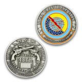 Pièce de monnaie argentée antique de souvenir d'enjeu d'anniversaire
