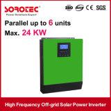 60A MPPT 관제사를 가진 3kVA 2400W 24V 고주파 230VAC 태양 에너지 변환장치