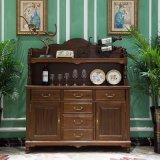 Cofre de gaveta de madeira de estilo americano para móveis de casa (AS807)