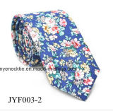 Relation étroite estampée par cravate florale occasionnelle neuve fabriquée à la main de coton de modèle