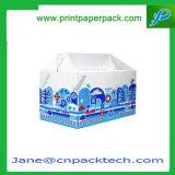 Rectángulo de empaquetado de encargo del producto lácteo de la confitería del regalo del aguilón del papel de arte