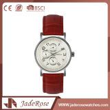 Montre simple de cuir de filles de bracelet d'OEM