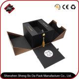 Het gerecycleerde Materiële Druk Aangepaste Verpakkende Vakje van het Document van het Karton van het Embleem