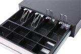 Cajón de la caja registradora del cajón del dinero de metal para el sistema Rj11/Rj12 12V de la posición