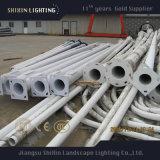 INMERSIÓN caliente poste tubular de acero galvanizado con las luces de calle