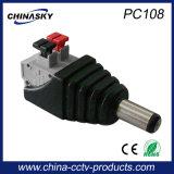Cctv-Energie männlicher Gleichstrom-Verbinder mit Screwless Klemmenleiste (PC108)