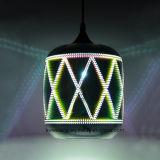 luz 3D para a lâmpada interna do pendente da decoração para a galeria