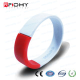 Bequemer RFID Kurbelgehäuse-BelüftungWristband für Loyalität-Ereignis