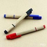 رخيصة هبة مادّة قلم ترويجيّ بلاستيكيّة ورقيّة
