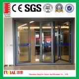 As2047/As2208証明のカスタマイズされたサイズのアルミニウムBifoldドア