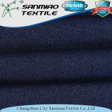 Tela hecha punto Spandex de los pantalones vaqueros del dril de algodón del algodón de la tela cruzada