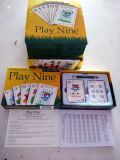 O jogo de cartão de cartões de jogo do golfe