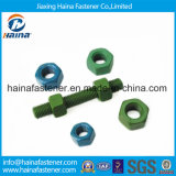 Aço DIN933 inoxidável 304 parafusos do parafuso prisioneiro B7 com superfície do Teflon
