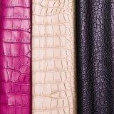 2016台の熱い販売の擬似ワニによって浮彫りにされる靴革