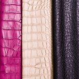 靴のハンドバッグのための浮彫りにされたワニPU PVC革