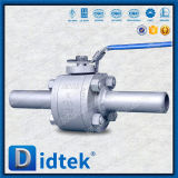 L'estremità di Didtek ha saldato ha forgiato l'estremità del capezzolo della valvola a sfera di galleggiamento di 3 PCS