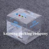 Caixa de empacotamento do presente plástico desobstruído relativo à promoção com cópia da curva (caixa de empacotamento)