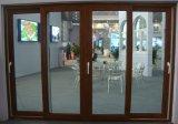 Puerta deslizante de la concha 60 PVC/UPVC con la película de color cubierta