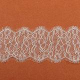 Tela bordada nuevo diseño del cordón de la gasa 2017 para la alineada de boda F30310#