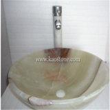 طبيعيّ صوان رخام غرفة حمّام بواليع بيضويّة, حجارة [وش بسن] مستديرة, صلبة [سورفس فسّل] بالوعة, صوان [وش بسن]