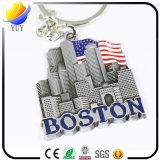 chaîne principale Etats-Unis Boston en métal Bosseyed de logo de 3D Tridimensional
