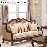 Strato americano del tessuto del sofà antico del salone con il blocco per grafici di legno per mobilia domestica