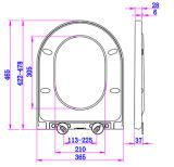 Leuchtender Druckknopf-Toiletten-Sitz der d-Art-eine