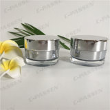 Vaso crema acrilico d'argento quadrato 30g per l'imballaggio dell'estetica (PPC-ACJ-082)