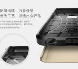 para el iPhone 7 2 en 1 cubierta de goma de la caja de la PC con los parachoques del silicón
