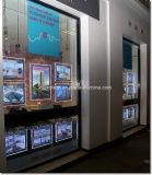 Bolso de luz acrílica para sistemas de exibição de janelas de imóveis
