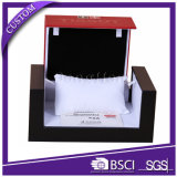 Vollständiges Set-kundenspezifisches Luxuxschwarzes PU-lederner Uhr-Kasten für das Mens-Uhr-Verpacken
