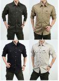 Chemise 100% de chemise de chemise uniforme de garantie de coton longue pour les hommes