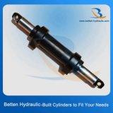 Atuação dobro pequena do cilindro hidráulico com montagem da orelha ou montagem da braçadeira