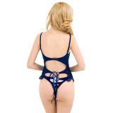 Het hoogste OEM Ontwerp Hoogstaande en Goedkope Populaire Gevlechte Blauwe Sexy Teddy van het Merk van de Diensten
