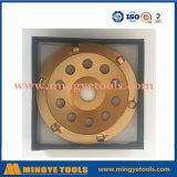 5 roda de moedura do copo do diamante da polegada PCD para o concreto