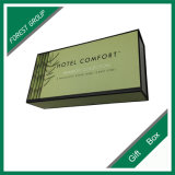Boîte-cadeau en bambou de paquet plat d'impression de couleur verte