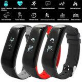 Pulsera impermeable de los deportes de Bluetooth del registrador de la presión arterial P1 para el teléfono móvil