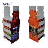 Estante de visualización de la venta al por menor de la cartulina del zumo de fruta con dimensión de una variable de la botella
