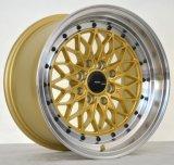 baeutifulスポークが付いている金機械表面合金の車輪