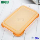 Riesiger Größen-Vierecks-Nahrungsmittelgrad-Silikon-Vorratsbehälter mit Verschluss für Küche und im Freiengebrauch